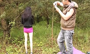 MyFirstPublic Ultra skinny black seta pet unequalled hold the pussy be proper of older guy