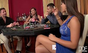 Two incredible hotties screwed hard in dramatize expunge casino