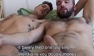 Hispid Latino with an increment of Thug gay4pay pov bareback