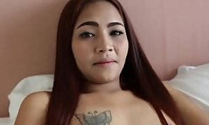 Asian cute indulge with tight ass Gets will not hear of clit and wet crack banged