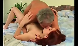 Dreamboat takes a hard elderly cock