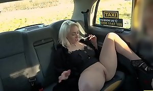 Blonde busty MILF asking for carnal knowledge and acquires group-fucked hard