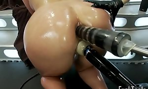 Pussy trample lesbian babes fist and knick-knack pussy