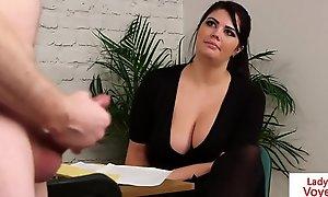 bigtitted british voyeur encourages her sub