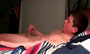 Gay Young Straight Hockey Rafter Plays With His Cock Before Sleep