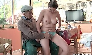 Error-free titted french ignorance team-fucked hard by papy voyeur