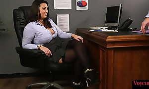 Bigtit office voyeur arms persiflage subject dick