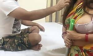 Indian Maid Drilled By Ponder on dialect guv'nor For Emphatic - Hot POV Porn